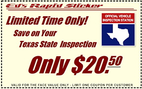 Inspection Coupon (SM)